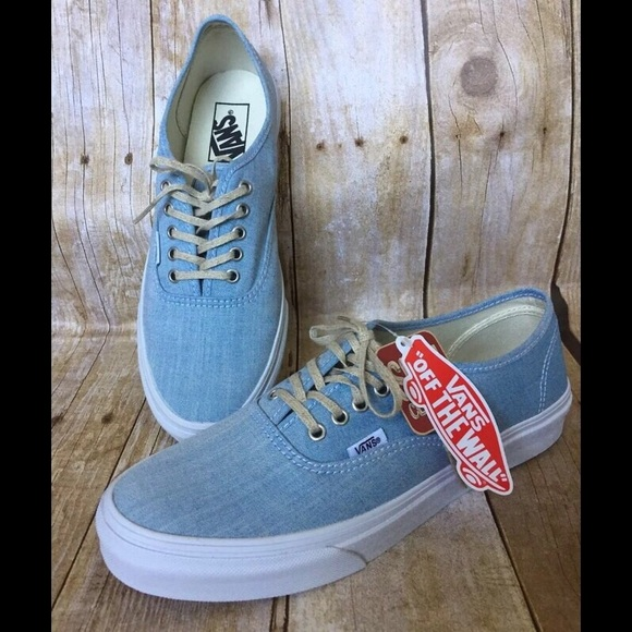 24d25b260e VANS Authentic Slim (Chambray) Blue True White